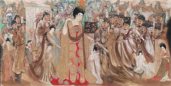"""""""中华史诗美术大展""""在中国国家博物馆开幕图片"""