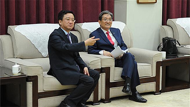 韩国驻华大使卢英敏访问鲁迅文学院