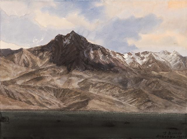 瓦恰的风景写生 陈坚 2010年 水彩 76.5×57cm