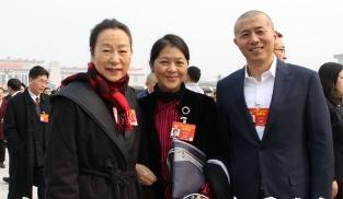 全国政协委员奚美娟、迟子建、毕飞宇