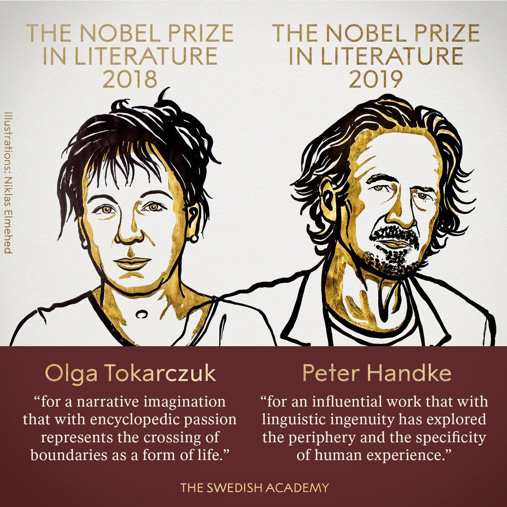 """今年诺贝尔文学奖下了个""""双.."""